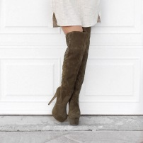 Over the Knee Boots, Sweaters and Bomber Jackets